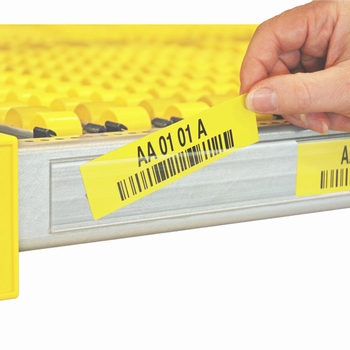 Self-adhesive label holder for rack width 1900 mm