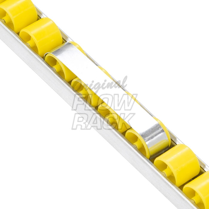 Brake clip (single) for kanban flow rack