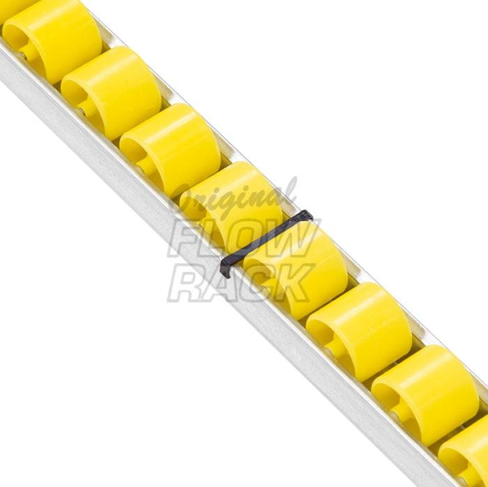 Heavy-duty roller track for shelf depth 1230 mm