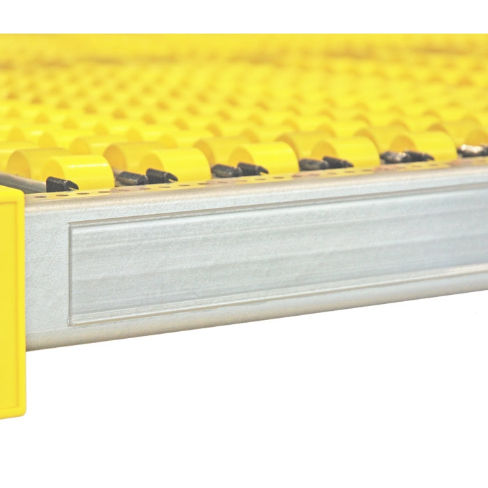 Self-adhesive label holder for rack width 1500 mm