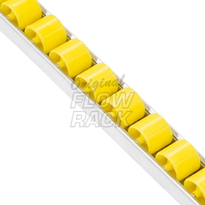 Standard roller track for shelf depth 1230 mm